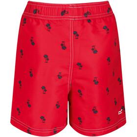 Regatta Skander II Short Enfant, true red palm print